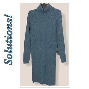 Solutions Turtleneck Long Sleeve Sweater Dress